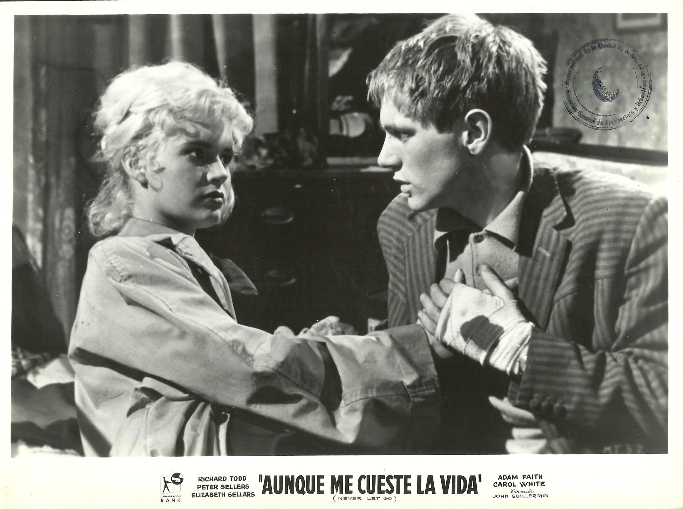 Adam Faith and Carol White in Never Let Go (1960)