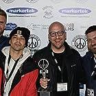 Jason Chaet, Armando Riesco, and Moisés Acevedo at an event for Seneca (2019)