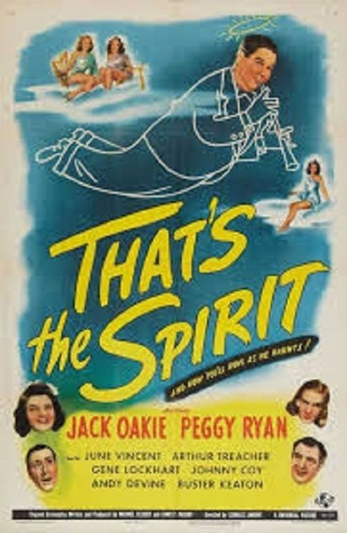 Andy Devine, Jack Oakie, Peggy Ryan, Arthur Treacher, and June Vincent in That's the Spirit (1945)