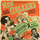 Louis Armstrong, Charlie Beal, Barney Bigard, George 'Red' Callender, Woody Herman, Billie Holiday, Meade 'Lux' Lewis, Kid Ory, Bud Scott, and Zutty Singleton in New Orleans (1947)