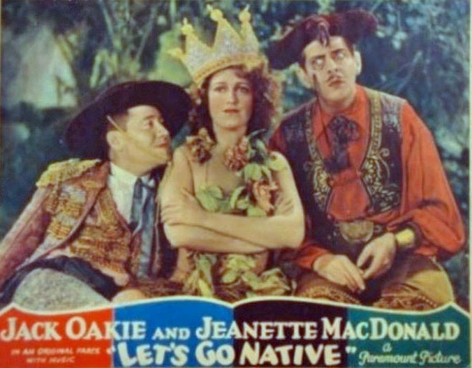 Richard 'Skeets' Gallagher, Jeanette MacDonald, and Jack Oakie in Let's Go Native (1930)