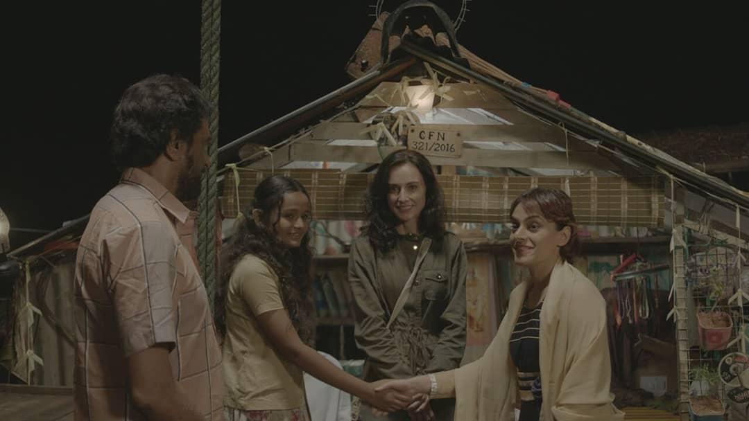 Fatima Al Mansoori, Linda Arsenio, Antony Thekkek, and Meenakshi in Puzhayamma (2019)