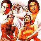 Dharmendra, Sanjay Dutt, Sunny Deol, and Vinod Khanna in Kshatriya (1993)