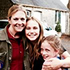 Dixie Egerickx with Tallulah Evans and director Melissa Joan Hart during filming of THE WATCHER IN THE WOODS, August 2016.