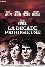 Orson Welles, Anthony Perkins, Marlène Jobert, and Michel Piccoli in La décade prodigieuse (1971)