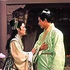 Ryô Ikebe and Shirley Yamaguchi in Byaku fujin no yoren (1956)