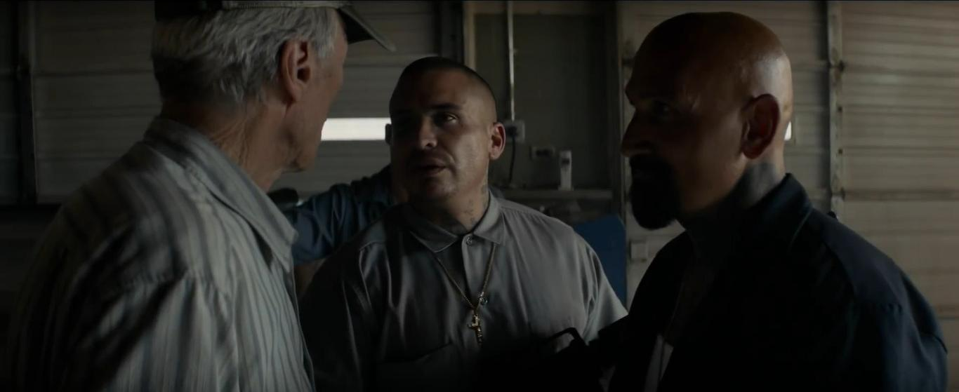 Clint Eastwood, Robert LaSardo, and Lee Coc in The Mule (2018)