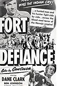 Dane Clark and Tracey Roberts in Fort Defiance (1951)