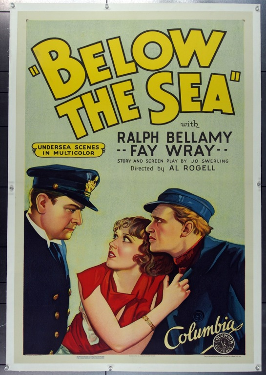 Ralph Bellamy, Frederick Vogeding, and Fay Wray in Below the Sea (1933)
