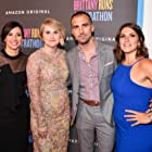 Michaela Watkins, Paul Downs Colaizzo, Jillian Bell, and Brittany O'Neill at an event for Brittany Runs a Marathon (2019)