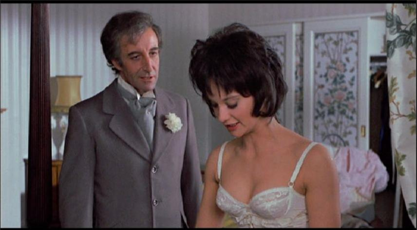 Peter Sellers and Nicola Pagett in There's a Girl in My Soup (1970)