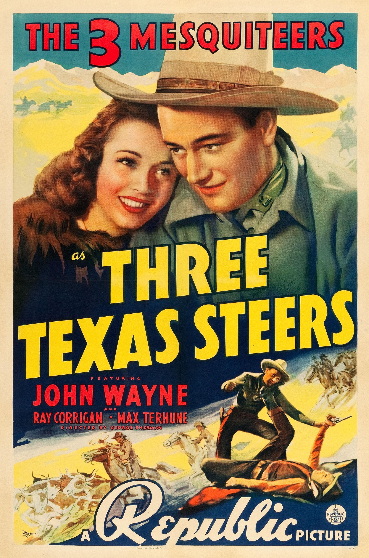 Three Texas Steers Movie Poster 1939