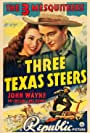 John Wayne, Ray Corrigan, and Carole Landis in Three Texas Steers (1939)