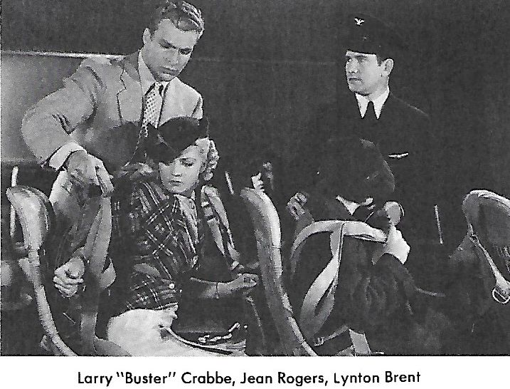 Lynton Brent, Buster Crabbe, and Jean Rogers in Flash Gordon (1936)