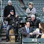 Jon Avnet directing Jason Issacs and Madchen Amick in Pleading Guilty at Wrigley Field, Chicago (2010)