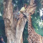 """Brianna Joy Chomer and co-star Tiny on the set of """"Zoombies"""""""