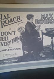 Don't Tell Everything Poster