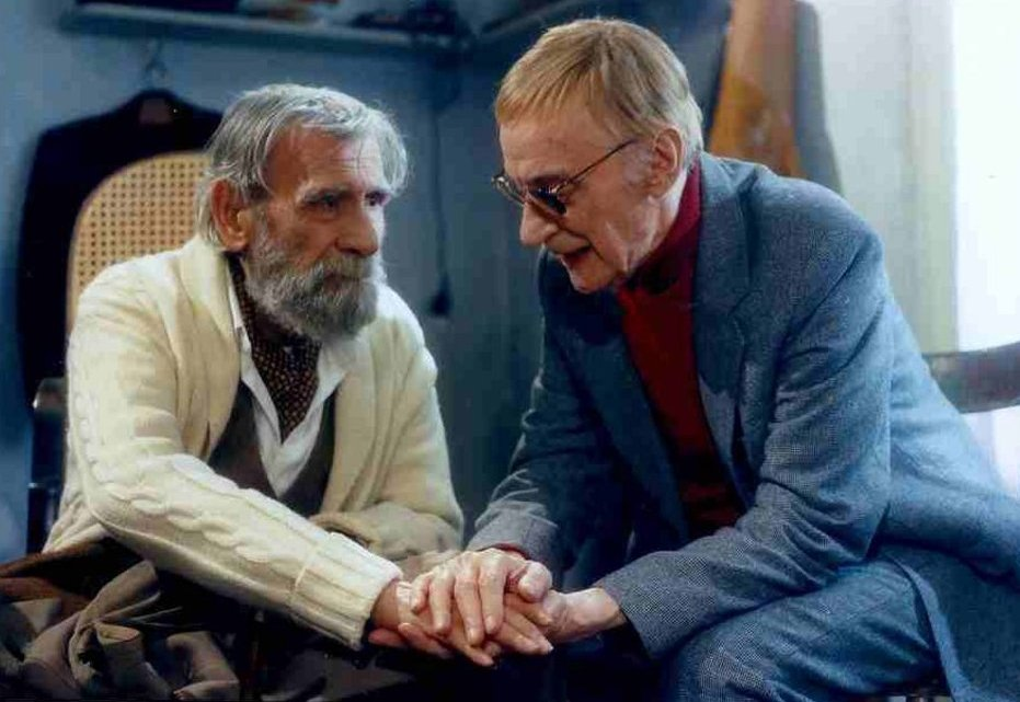 Vasilis Diamantopoulos and Dinos Iliopoulos in To palto (1997)