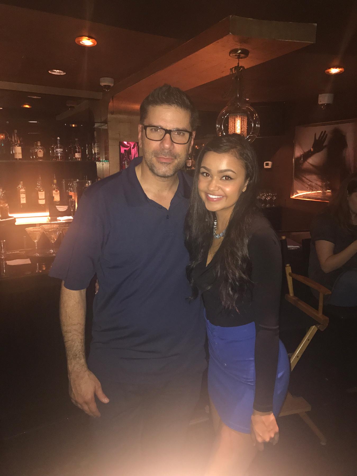 On the set of bottle girl with director Joe Menendez