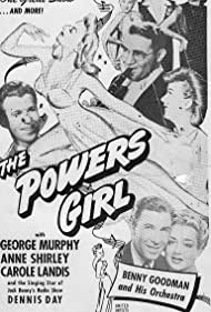Jean Ames, Dennis Day, Carole Landis, George Murphy, Anne Shirley, and Benny Goodman and His Orchestra in The Powers Girl (1943)