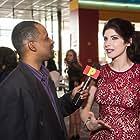KateLynn Newberry getting interviewed on the Banger red carpet premier