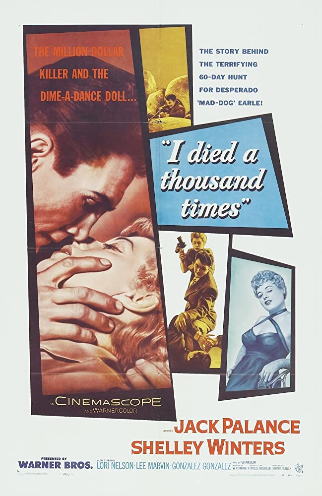 Jack Palance and Shelley Winters in I Died a Thousand Times (1955)