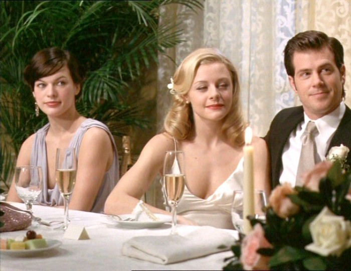 Milla Jovovich, Jessica Cauffiel, and Dan Montgomery Jr. in You Stupid Man (2002)