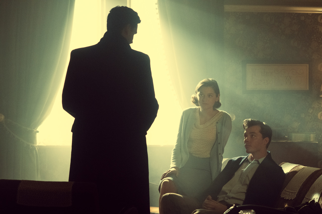 Emma Corrin, Jack Bannon, and Ben Aldridge in Pennyworth (2019)
