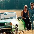 Anna Geislerová, Radek Pastrnák, and Jakub Spalek in Jízda (1994)