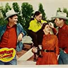 Buddy Ebsen, Rex Allen, Bonnie DeSimone, and Mary Ellen Kay in Rodeo King and the Senorita (1951)