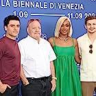 Paul Schrader, Oscar Isaac, Tiffany Haddish, and Tye Sheridan at an event for The Card Counter (2021)