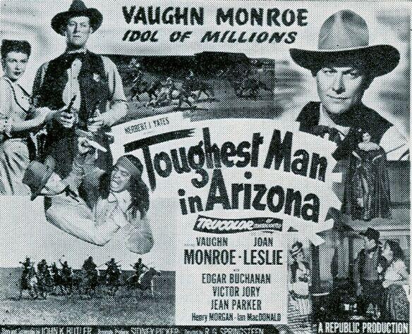 Joan Leslie and Vaughn Monroe in Toughest Man in Arizona (1952)