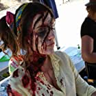Brianna Joy Chomer in makeup for Zoombies