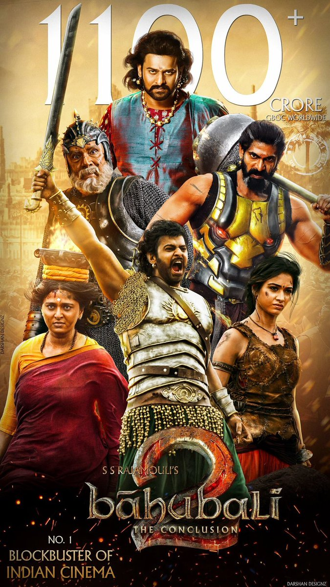Baahubali 2: The Conclusion (2017) Hindi Blu-Ray - 480P | 720P | 1080P - x264 - 600MB | 1.6GB | 4GB - Download & Watch Online Movie Poster - mlsbd
