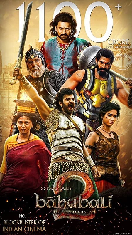 Baahubali 2: The Conclusion (2017) Hindi 720p Blu-Ray x265 AAC 850MB