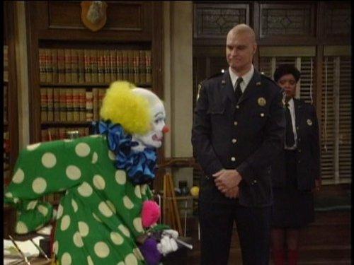 Richard Moll, Jack Riley, and Marsha Warfield in Night Court (1984)