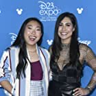 Cassie Steele and Awkwafina at an event for Raya and the Last Dragon (2021)