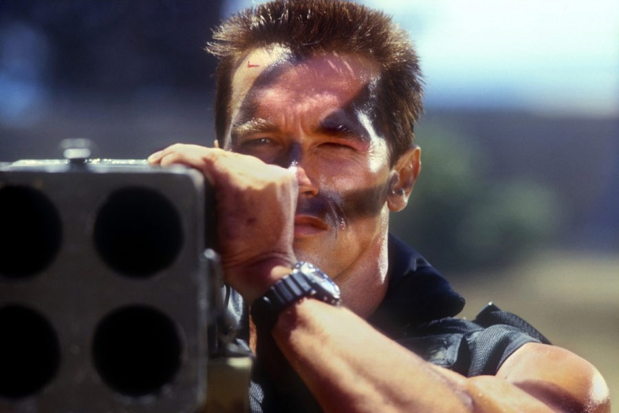 Arnold Schwarzenegger in Commando (1985)