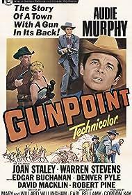 Audie Murphy, Edgar Buchanan, Joan Staley, Warren Stevens, and Morgan Woodward in Gunpoint (1966)