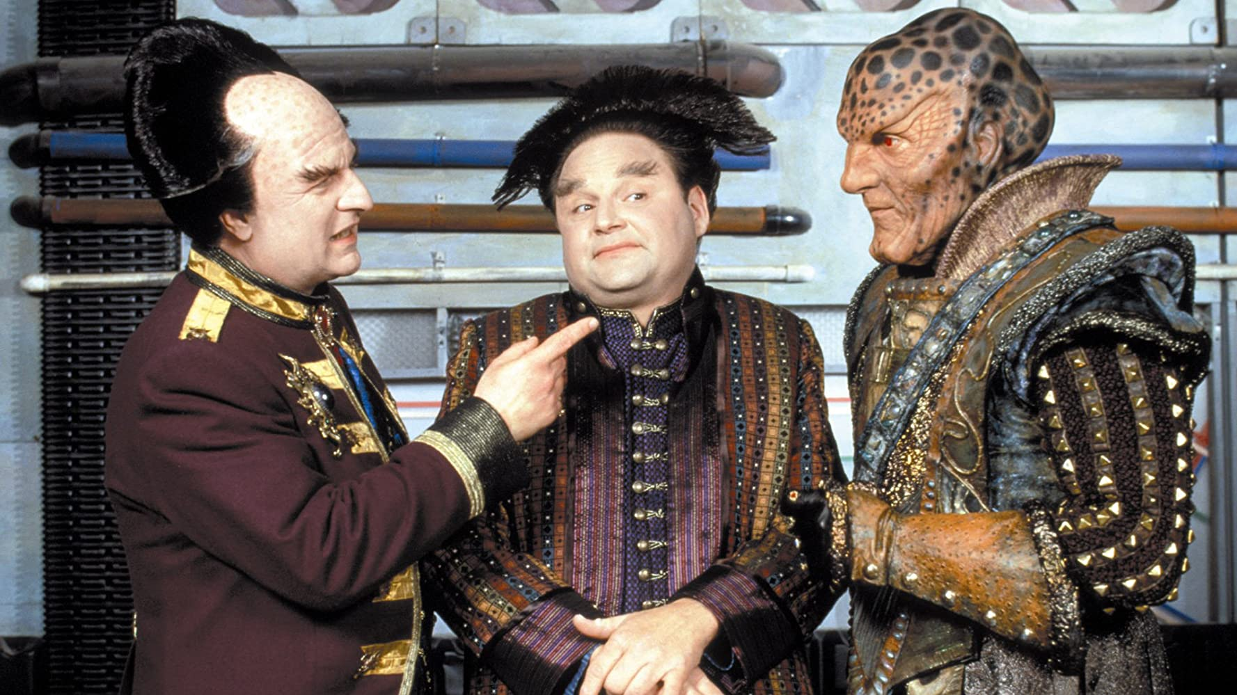 Stephen Furst Peter Jurasik and Andreas Katsulas in Babylon 5 1994