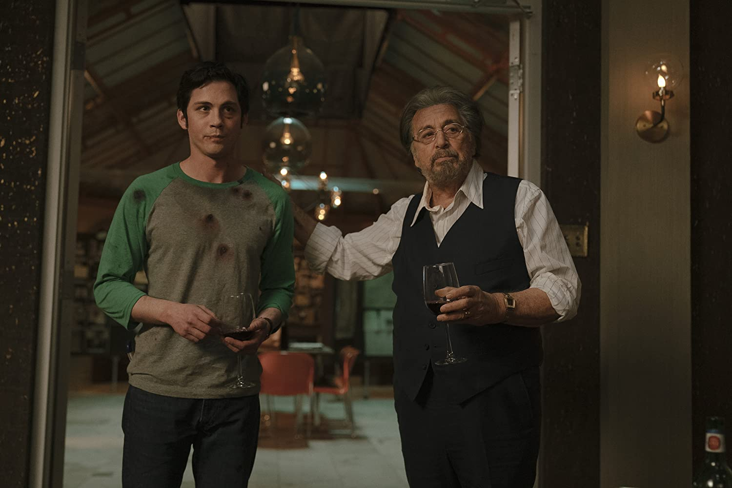 Al Pacino and Logan Lerman in Hunters (2020)