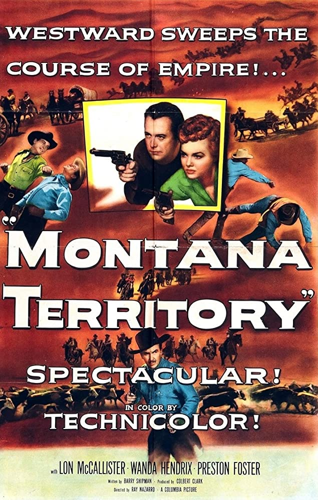 Preston Foster, Wanda Hendrix, and Lon McCallister in Montana Territory (1952)