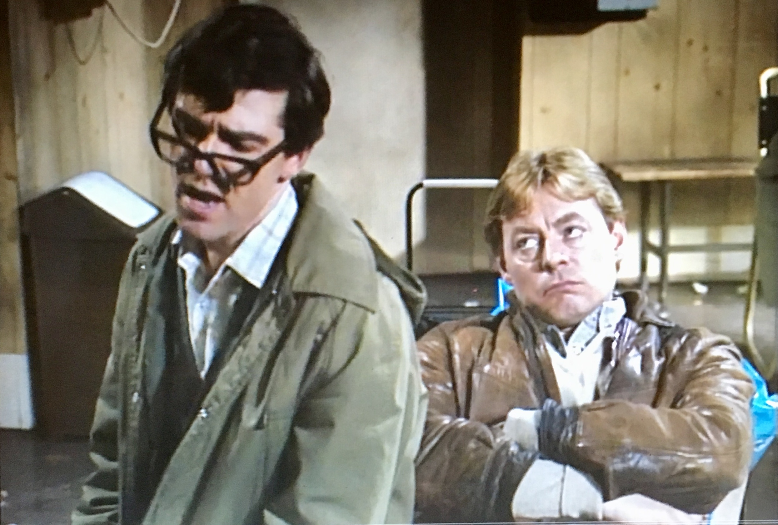 Hywel Bennett and Bruce Bould in Shelley (1979)