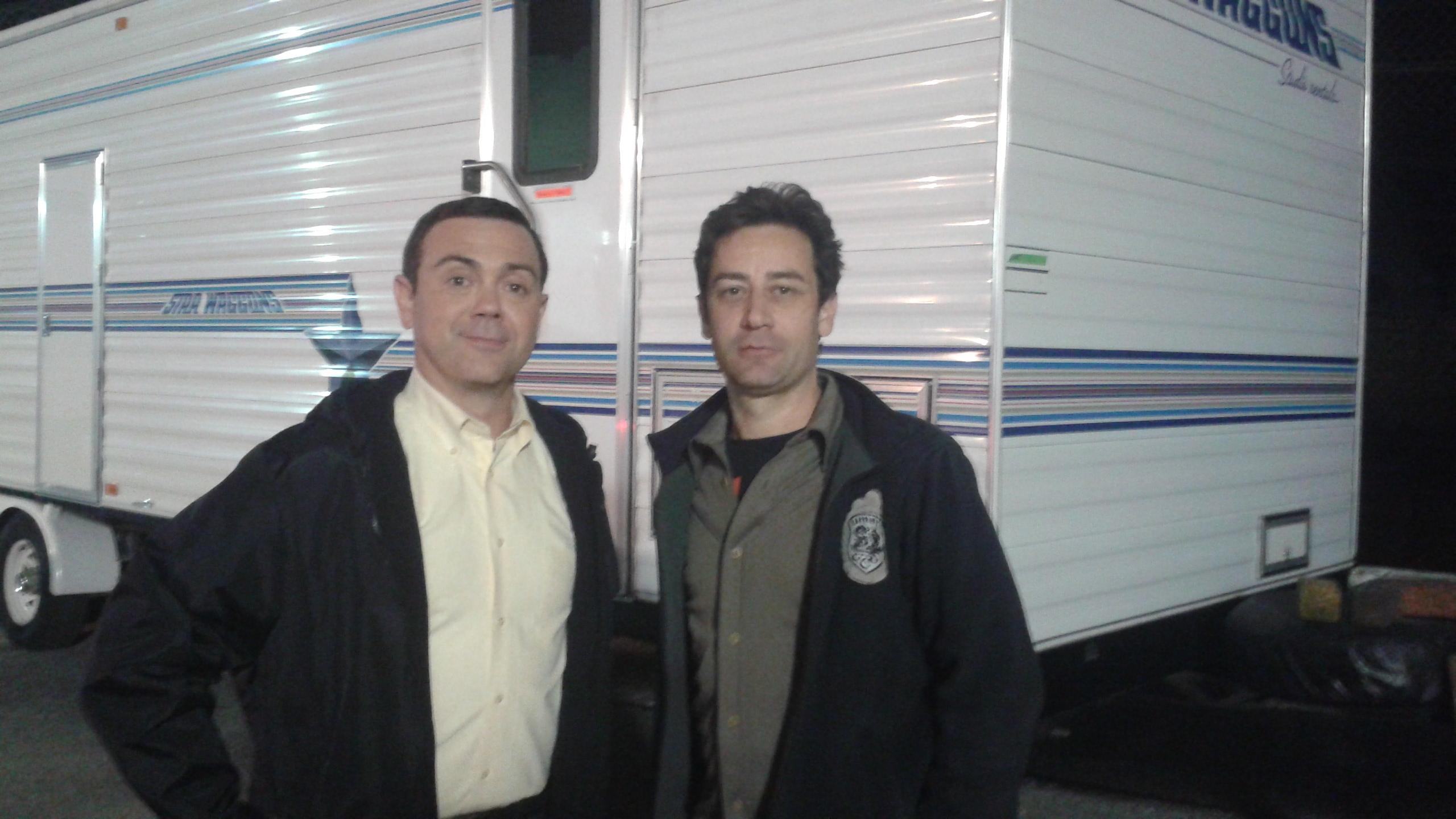 Scott V. with Joe Lo Truglio on Brooklyn Nine-Nine
