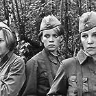 Ekaterina Markova, Olga Ostroumova, and Irina Shevchuk in A zori zdes tikhie (1972)