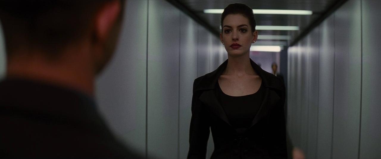 Anne Hathaway and Joseph Gordon-Levitt in The Dark Knight Rises (2012)