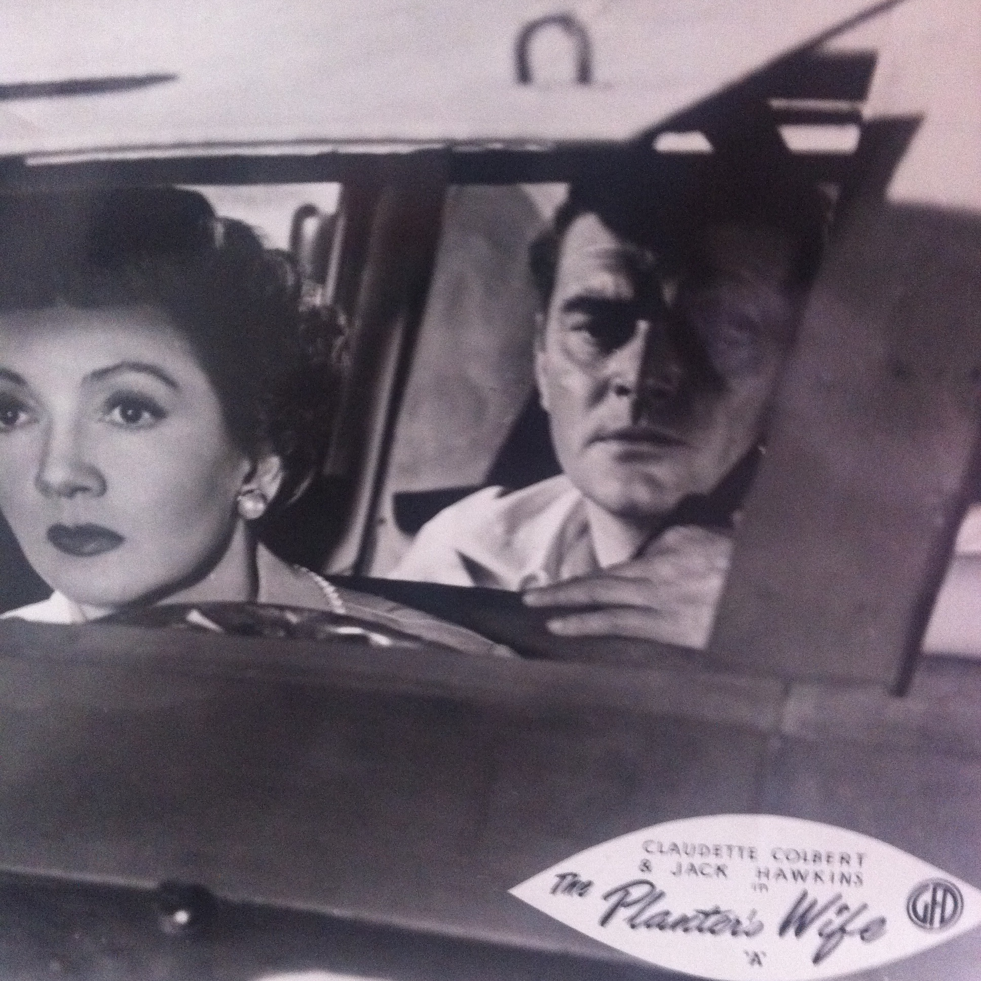 Claudette Colbert and Jack Hawkins in The Planter's Wife (1952)
