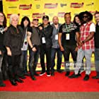 Kenny Aronoff, Ray Parker Jr., Rudy Sarzo, Liberty DeVitto, Russell Javors, Tim Calandrello, Jason Hook, Thomas Glinkowski, Phil Xenidis, Fran Strine, and T. Michael Kennedy at an event for Hired Gun (2016)