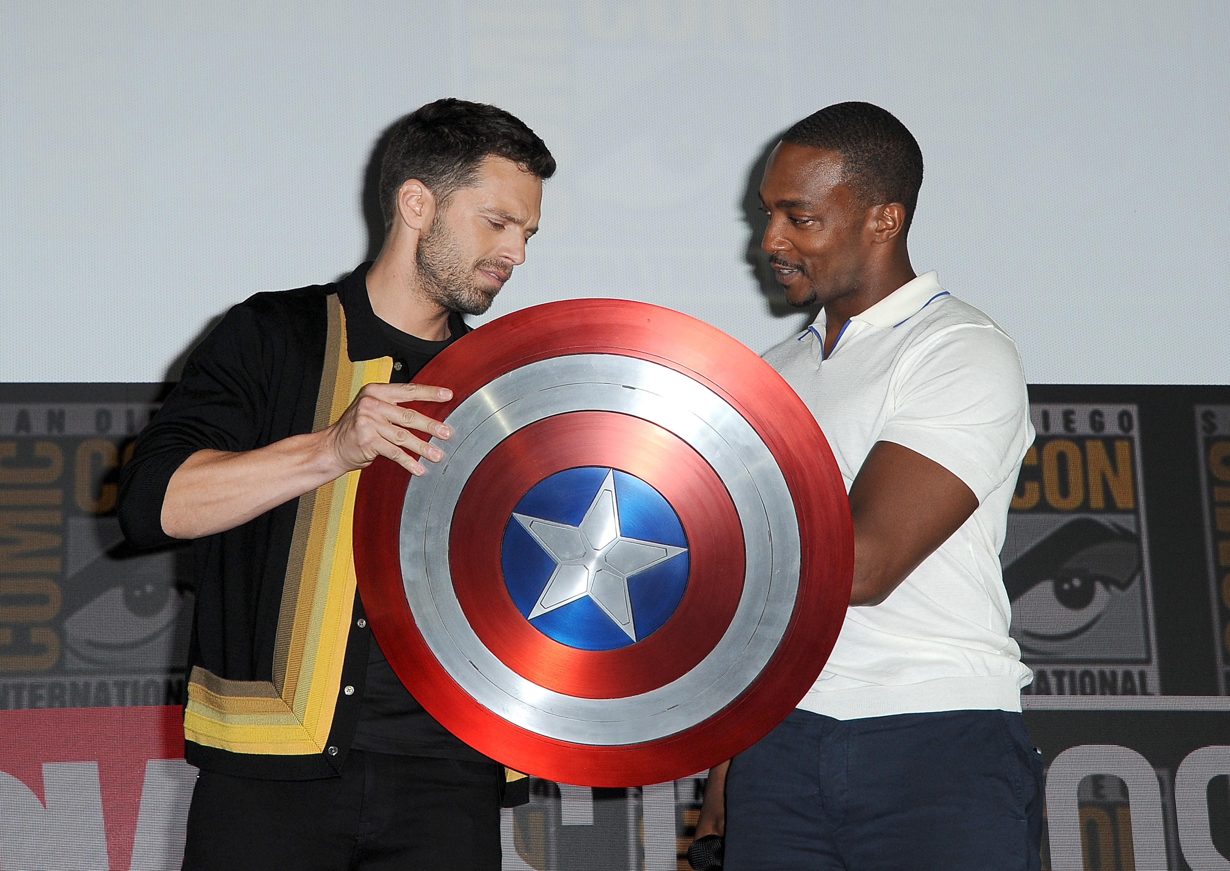 Anthony Mackie and Sebastian Stan