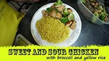 Sweet & Sour Chicken w/ Broccoli and Rice